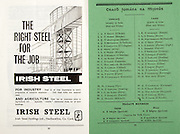 All Ireland Senior Hurling Championship Final,.06.09.1964, 09.06.1964, 6th September 1964,.Minor Cork v Laois, .Senior Kilkenny v Tipperary, Tipperary 5-13 Kilkenny 2-08,..Irish Steel, .Irish steel holdings ltd, Haulbowline co Cork, .Cork,.O'Brien, Murphy, Aherne, O'Sullivan, O'Callaghan, Wiley, Murphy,  O'Riordan, Roche, Cummins, McAuliffe, Clifford, McCarthy, Flynn, Kenneally, Slye, Dowling, Barry, Farrell, Mitchell, ..Laois,.Bergin, Moore, McDonnell, Byrne, Phelan (Capt), Purcell, Delaney, Fennell, Dowling,  Delaney, Dillon, Payne, Conlon, Kavanagh, Keyes, Kavanagh, Byrne, Sheppard, Kelly, O'Keeffe, ..