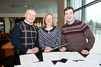 Choir Masters : Seamus Leonard, GUH Choir,  Marie Taylor Medtronic Choir and  Peter Mannion NUIG at the launch of  Launch of Choirfactor 2014' which takes place in the Radisson Blu Hotel, Galway on Friday 11th April 2014. Photo:Andrew Downes