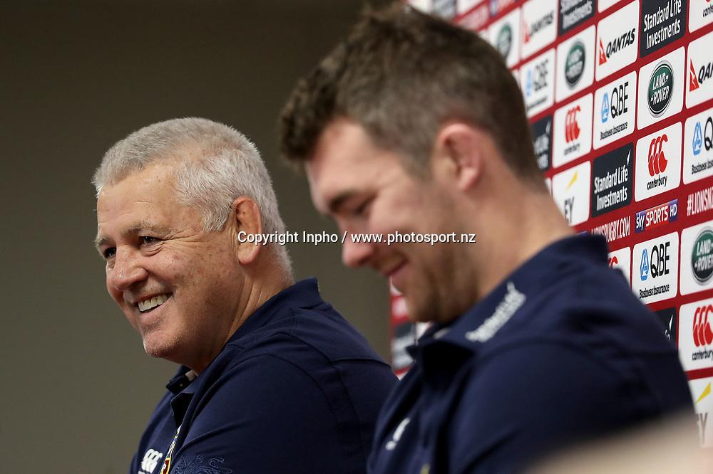 2017 British &amp; Irish Lions Tour To New Zealand<br />British &amp; Irish Lions Press Conference, Matariki Centre, Rotorua, New Zealand 15/6/2017<br />Head coach Warren Gatland <br />Mandatory Credit &copy;INPHO/Dan Sheridan / www.photosport.nz