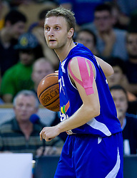 Jure Mocnik of Helios at third finals basketball match of Slovenian Men UPC League between KK Union Olimpija and KK Helios Domzale, on June 2, 2009, in Arena Tivoli, Ljubljana, Slovenia. Union Olimpija won 69:58 and became Slovenian National Champion for the season 2008/2009. (Photo by Vid Ponikvar / Sportida)