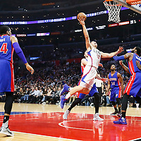 07 November 2016: Los Angeles Clippers forward Blake Griffin (32) goes for the layup during the LA Clippers 114-82 victory over the Detroit Pistons, at the Staples Center, Los Angeles, California, USA.