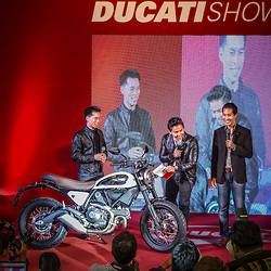 "Scrambler Ducati ""Legend 62"" launch at Central World Bangkok"