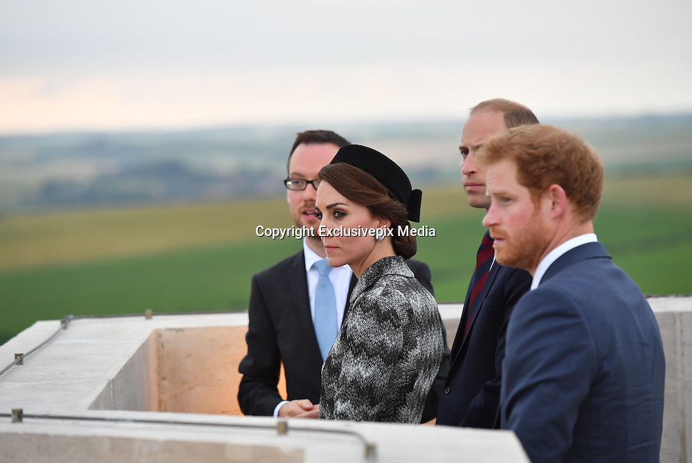 SOMME - FRANCE- 30th June 2016: The 100th anniversary of the Battle of The Somme in northern France. <br /> <br /> Members of the Royal Family including The Duke and Duchess of Cambridge, and Prince Harry attend a  vigil service held at the Thiepval  Somme Memorial to mark the 100th Anniversary of the Battle of the Somme which started on the 1st July 1916.<br /> &copy;Exclusivepix Media