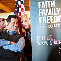 Republican Presidential candidate RICK Santorum holds rally at Percy & Willes restaurant..  The South Carolina primary will be held on January 21.
