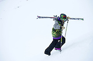 Keri Herman during Slopestyle Practice at the 2013 X Games Tignes in Tignes, France. ©Brett Wilhelm/ESPN