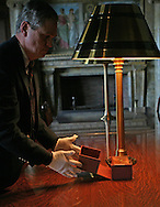 Clark Evans, the  head of the Rare Books section of the Library of Congress closes the box which contains Lincoln's Bible.  President Elect Barak Obama will take the oath of office as the 44th President of the United States using Lincoln's Bible. The Bible was exhibited for the media at the Library of Congress in Washington, DC on December 23, 2008.  Photograph by Dennis Brack