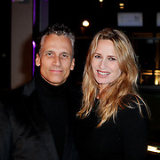 NLD/Amsterdam/20111109 - Life After Football Fair 2011, Robert Schoemacher en partner Claudia van Zweden