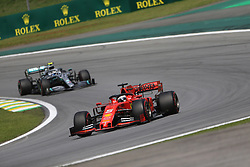 November 17, 2019, Sao Paulo, Brazil: xa9; Photo4 / LaPresse.17/11/2019 Sao Paulo, Brazil.Sport .Grand Prix Formula One Brazil 2019.In the pic: Sebastian Vettel (GER) Scuderia Ferrari SF90 an +d Valtteri Bottas (FIN) Mercedes AMG F1 W10 (Credit Image: © Photo4/Lapresse via ZUMA Press)