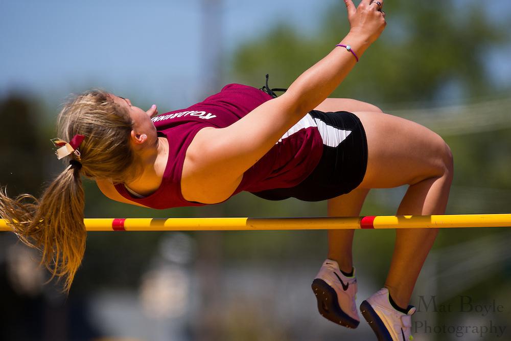 Women's High Jump at the NJAC Track and Field Championships at Richard Wacker Stadium on the campus of  Rowan University  in Glassboro, NJ on Sunday May 5, 2013. (photo / Mat Boyle)