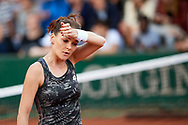 Paris, France - 2017 May 30: Agnieszka Radwanska from Poland looks forward during her women's single match first round during tennis Grand Slam tournament The French Open 2017 (also called Roland Garros) at Stade Roland Garros on May 30, 2017 in Paris, France.<br /> <br /> Mandatory credit:<br /> Photo by © Adam Nurkiewicz<br /> <br /> Adam Nurkiewicz declares that he has no rights to the image of people at the photographs of his authorship.<br /> <br /> Picture also available in RAW (NEF) or TIFF format on special request.<br /> <br /> Any editorial, commercial or promotional use requires written permission from the author of image.