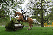 Sarah Bates riding Danish Sovereign during the International Horse Trials at Chatsworth, Bakewell, United Kingdom on 11 May 2018. Picture by George Franks.