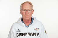 Jürgen Wagner poses at a photocall during the preparations for the Olympic Games in Rio at the Emmich Cambrai Barracks in Hanover, Germany, taken on 19/07/16   usage worldwide