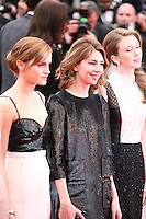 Emma Watson, Sofia Coppola, Taissa Fariga, at the gala screening of Jeune & Jolie at the 2013 Cannes Film Festival 16th May 2013