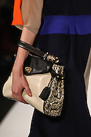 Nimue Smit walks the runway wearing BCBG MAXAZRIA Fall 2012 during Mercedes-Benz Fashion Week in New York City,  on February 9th, 2012