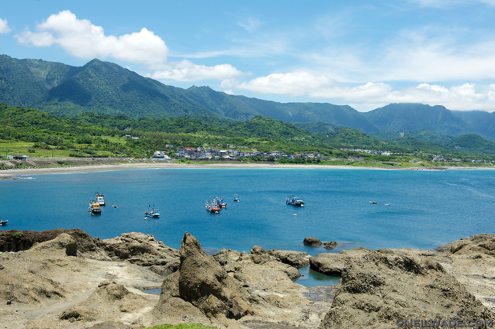 Wushibi fishing bay on Taiwan's east coast.