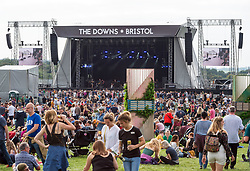 © Licensed to London News Pictures. 01/09/2018. Bristol, UK. The Downs Festival on The Downs in Bristol. The one day festival is taking place for the third year and features headliners Noel Gallagher's High Flying Birds, Paul Weller, and Orbital. Photo credit: Simon Chapman/LNP