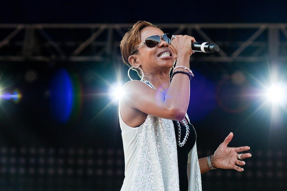 MC Lyte at Wood-Star Music Festival