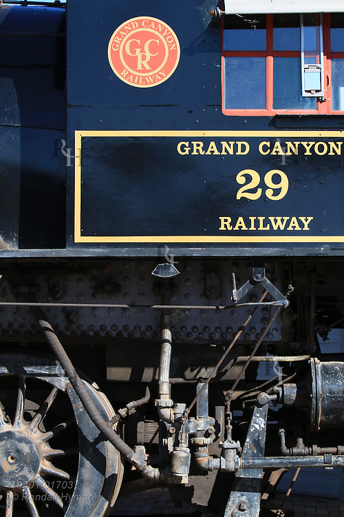 Grand Canyon Railway runs from Williams to the South Rim of Grand Canyon National Park, Arizona.