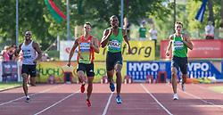 26.05.2012, Moeslestadion, Goetzis, AUT, 38. Hypo Meeting Goetzis 2012, Zehnkampf der Herren 400m, im Bild Gael Querin (FRA), Eelco Sintnicolaas (NED),  Yunior Diaz (CUB) und Eduard Mikhan (BEL) Gael Querin of France, Eelco Sintnicolaas of Netherlands , Yunior Diaz of Cuba and Eduard Mikhan of Belgium during the 38. Hypo Meeting Goetzis 2012, Men's decathlon 400 meters at the Moeslestadion, Goetzis, Austria on 2012/26/05. EXPA Pictures © 2012, PhotoCredit: EXPA/ Peter Rinderer