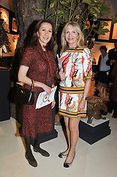 Left to right, YVONNE AZEDO and KAREN PHILLIPPS at a preview evening of the annual London LAPADA (The Association of Art & Antiques Dealers) antiques Fair held in Berkeley Square, London on 18th September 2012.