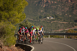 Lucia Gonzalez Blanco (ESP) of Bizkaia-Durango Cycling Team leads a small group up on the main climb of Stage 2 of the Setmana Ciclista Valenciana - a 115 km road race, between Castello and Vila-Real on February 23, 2018, in Valencia, Spain. (Photo by Balint Hamvas/Velofocus.com)
