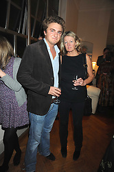 The HON.LAURA LEVI and her son SONNY MALLET at the launch party of Ingrid Seward's new book 'William & Harry - The People's Princes' held at 47 Hornton Court West, London W8 on 7th October 2008.