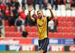 Joel Ekstrand of Bristol City gestures to the fans - Mandatory by-line: Matt McNulty/JMP - 10/09/2016 - FOOTBALL - Aesseal New York Stadium - Rotherham, England - Rotherham United v Bristol City - Sky Bet Championship