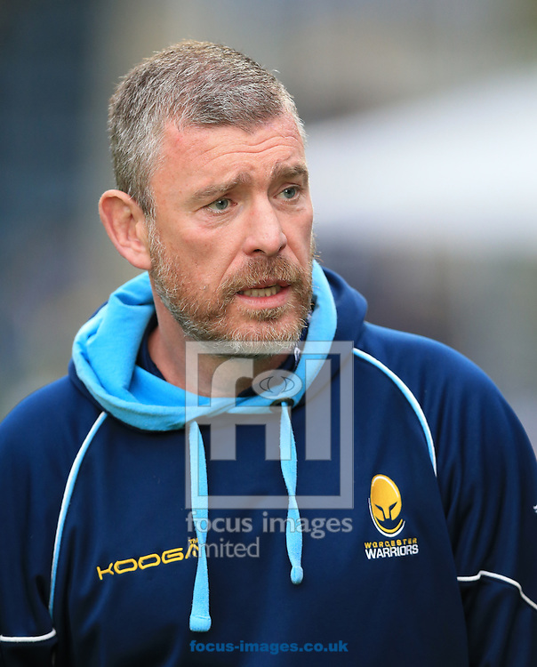 Dean Ryan Worcester Director of rugby before the second leg of the Greene King IPA Championship Final at Sixways Stadium, Worcester<br /> Picture by Michael Whitefoot/Focus Images Ltd 07969 898192<br /> 27/05/2015