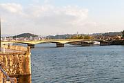 Santa Clara Bridge over the Mondego River, Coimbra, Portugal