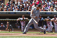Raul Ibanez #28 of the Seattle Mariners bats against the Minnesota Twins on June 2, 2013 at Target Field in Minneapolis, Minnesota.  The Twins defeated the Mariners 10 to 0.  Photo: Ben Krause