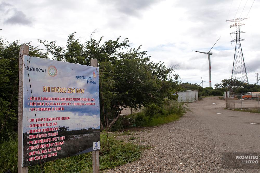Desde 2012 se han registrado enfrentamientos en el complejo del parque  eólico Bii Hioxo (Viento Grande o Viento Viejo), cercano a la ciudad de Juchitán (FOTO: Prometeo Lucero)