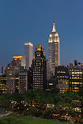 Lighted Tops Over Bryant Park<br /> Midtown Manhattan