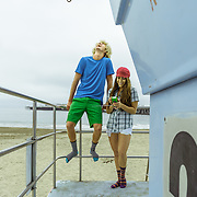 Noah and Allison. Apparel & lifestyle shoot in Santa Cruz, CA | Socksmith