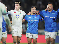 Rugby Union - 2017 Old Mutual Wealth Series (Autumn Internationals) - England vs. Samoa<br /> <br /> Piers Francis of England,joins the samoan team after the final whistle at Twickenham.<br /> <br /> COLORSPORT/ANDREW COWIE