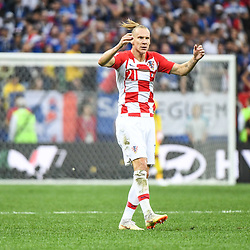 -Domagoj Vida of Croatia during the World Cup Final match between France and Croatia at Luzhniki Stadium on July 15, 2018 in Moscow, Russia. (Photo by Anthony Dibon/Icon Sport)