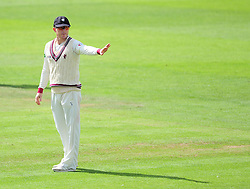 Chris Rogers, Somerset captain, gives instructions.  - Mandatory by-line: Alex Davidson/JMP - 04/08/2016 - CRICKET - The Cooper Associates County Ground - Taunton, United Kingdom - Somerset v Durham - County Championship