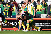 Teemu Pukki (22) of Norwich City warming up ahead of the Premier League match between Bournemouth and Norwich City at the Vitality Stadium, Bournemouth, England on 19 October 2019.