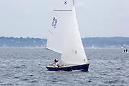 _V0A8102. ©2014 Chip Riegel / www.chipriegel.com. The 2014 Bullseye Class National Regatta, Fishers Island, NY, USA, 07/19/2014. The Bullseye is a Nathaniel Herreshoff designed 15' Marconi rig sailing boat.
