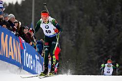 Philipp Horn (GER) in action during the Pursuit Men 12,5 km at day 8 of IBU Biathlon World Cup 2018/19 Pokljuka, on December 9, 2018 in Rudno polje, Pokljuka, Pokljuka, Slovenia. Photo by Urban Urbanc / Sportida