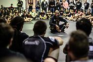 LONDON, ENGLAND, SEPTEMBER 13, 2013: Former UFC middleweight champion Anderson Silva hods a seminar inside London Fight Factory in London, England on September 13, 2013 © Martin McNeil