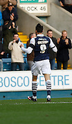 Millwall FC Forward Lee Gregory celebrates his goal during the Sky Bet League 1 match between Millwall and Colchester United at The Den, London, England on 21 November 2015. Photo by Andy Walter.