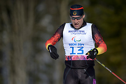 UHLIG Tino competing in the Nordic Skiing XC Long Distance at the 2014 Sochi Winter Paralympic Games, Russia