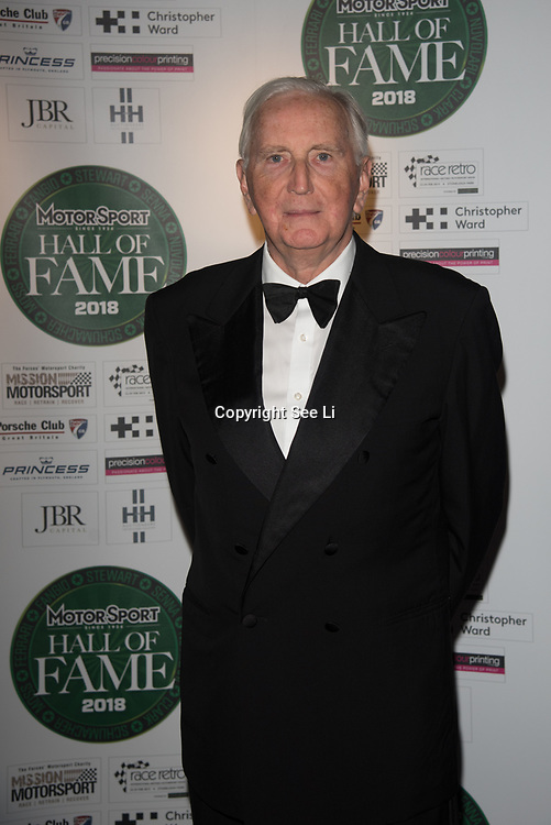 John Marshall Watson, MBE attend The Motor Sport Hall of Fame will return to the spectacular Royal Automobile Club at Woodcote Park, Surrey, London, UK. 4 June 2018.