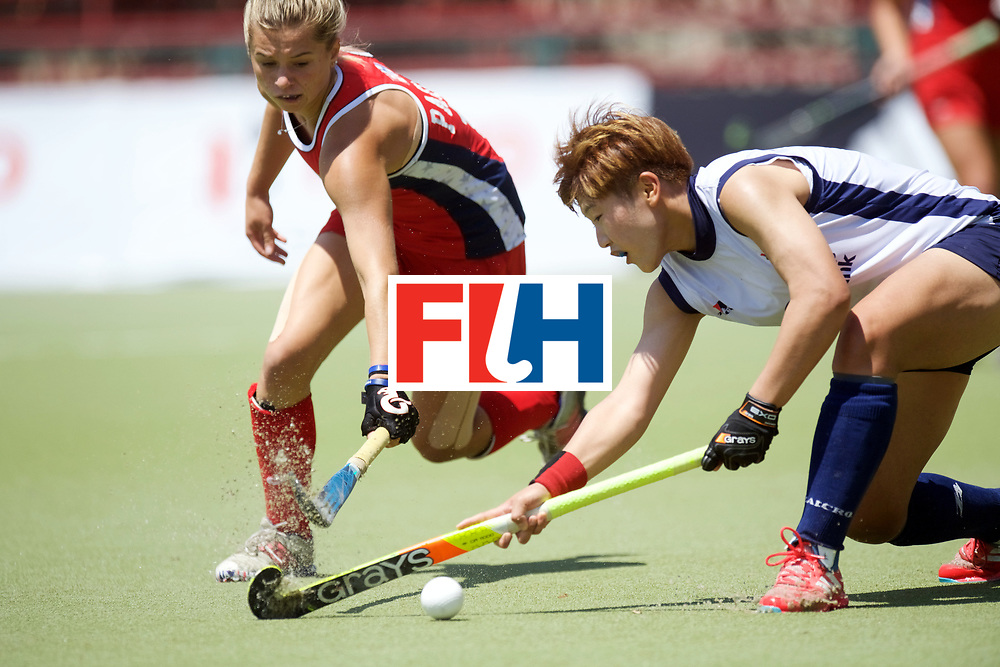 SANTIAGO - 2016 8th Women's Hockey Junior World Cup<br /> KOR v USA (Pool A)<br /> foto: Margaux Paolino <br /> FFU PRESS AGENCY COPYRIGHT FRANK UIJLENBROEK