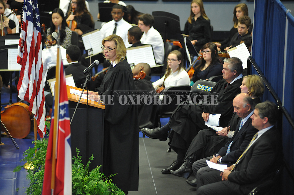 during a Naturalization Ceremony in U.S. District Court for the Northern District of Mississippi, at Oxford High School in Oxford, Miss. on Tuesday, November 18, 2014. The ceremony was the first the court has ever held at the school.