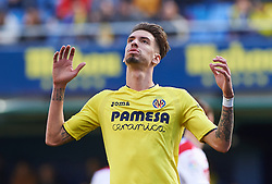 January 28, 2017 - Villarreal, Castellon, Spain - Samu Castillejo of Villarreal CF reacts during their La Liga match between Villarreal CF and Granada CF at the Estadio de la Ceramica on 28 January 2017 in Vila-real, Spain. (Credit Image: © Maria Jose Segovia/NurPhoto via ZUMA Press)