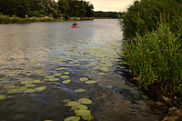 canoe on the Peene river, Anklam, Germany