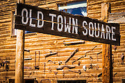 Historic Old Town Square, Silverton, Colorado USA
