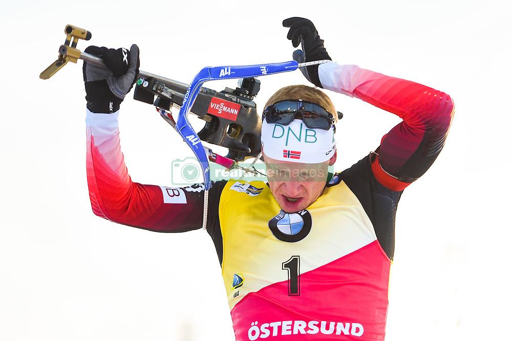 March 10, 2019 - –Stersund, Sweden - 190310 Johannes Thingnes Bö of Norway during the Men's 12,5 km Pursuit during the IBU World Championships Biathlon on March 10, 2019 in Östersund..Photo: Petter Arvidson / BILDBYRÃ…N / kod PA / 92255 (Credit Image: © Petter Arvidson/Bildbyran via ZUMA Press)