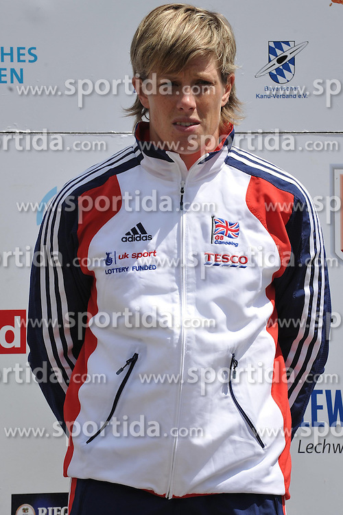 13.05.2012, Eiskanal, Augsburg, GER, ECA, Kanuslalom Europameisterschaft, im Bild PENNIE Fiona, GBR, Bronze im Kayak K1 // during the ECA European Canoe Championships at the Ice channel, Augsburg, Germany on 2012/05/13. EXPA Pictures © 2012, PhotoCredit: EXPA/ Eibner/ Burghard Schreyer..***** ATTENTION - OUT OF GER *****